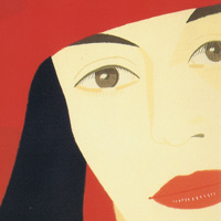 アレックス・カッツ「赤いコート」1983年