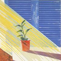 デイヴィッド・ホックニー「ウェザー・シリーズより太陽」1973年