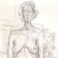アルベルト・ジャコメッティ「裸婦 花」