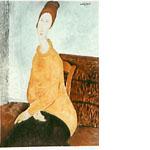 アメデオ・クレメンテ・モディリアーニ「黄色いセーターのジャンヌ・エビュテルヌ」