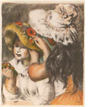 ピエール・オーギュスト・ルノワール「ピン飾りの帽子」
