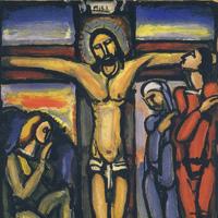 ジョルジュ・ルオー「十字架上のキリスト」1936年