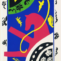 アンリ・マティス「ジャズより馬、女曲馬師、道化師」1947年