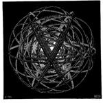M・C・エッシャー「Concentric Rings」