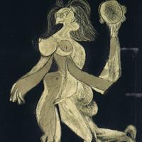 パブロ・ピカソ「タンバリンを持つ女」1939年