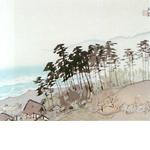 川合玉堂「桃咲く村」