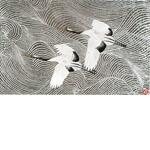 加山又造「鶴」