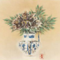 前田青邨「瓶花」