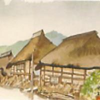 向井潤吉「雨の街道 (磐城七ヶ宿) 宮城県八月」